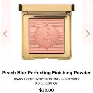 Too Faced Peach Blur Finishing Powder! Brand New!